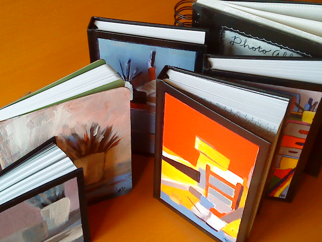 Painted books (sold)